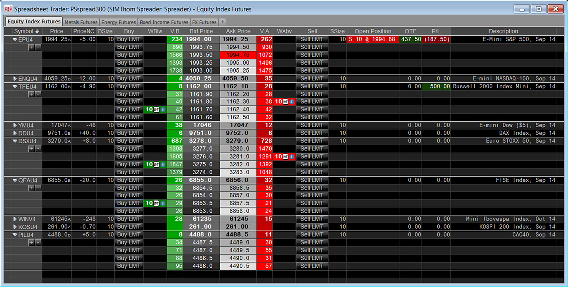 Spreadsheet Trader helps with trading and managing orders and positions across a multitude of markets