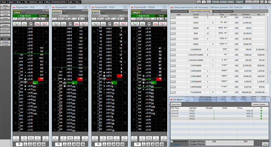 Electronic trading in CQG